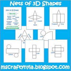 Free templates for 3D shape nets- I really could have used this. Few weeks ago! Perfect tool for me to go back and retract!!!