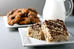 40 different rice crispy treat recipes including s'more, biscoff, Oreo, and Samoa!