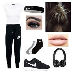 Nike by kelseyclark70 on Polyvore featuring polyvore, moda, style, NIKE, Beats by Dr. Dre, LASplash, fashion and clothing