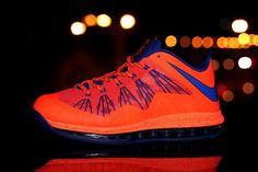 Nike Air Max Lebron 10 Low Orange Blue!$78.90USD