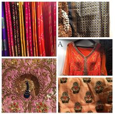 A sari for every bride at the Vogue Wedding Show featuring Swati & Sunaina...