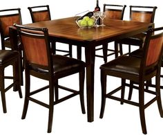 counter high dining table set