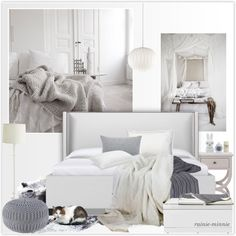 Cozy Bedroom by rainie-minnie on Polyvore featuring interior, interiors, interior design, home, home decor, interior decorating, Rizzy Home, Home Decorators Collection, George Nelson and Serena & Lily