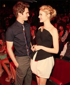 Emma Stone & Andrew Garfield...May be one of the sweetest couple pix ever.