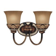 "Minka Lavery 5742-206 2 Light 14.5"" Width Bathroom Vanity Light with Avorio Mezz Aston Court Bronze Indoor Lighting Bathroom Fixtures Vanity Light"