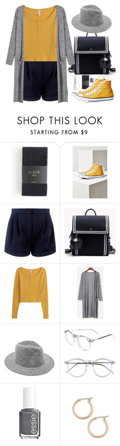 """""""So many miles between us now, but you are always here with me."""" by kristinadyomina ❤ liked on Polyvore featuring J.Crew, Converse, La Perla, H&M, Wildfox, Essie and Nordstrom"""