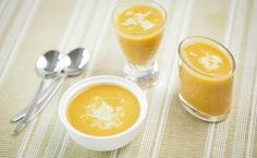 Epicure's Mango Curry Squash Soup Epicure Recipes, Vegetarian Recipes, Cooking Recipes, Easy Summer Meals, Summer Recipes, Butternut Squash, Mango Curry, Side Recipes, Mango