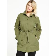 Lost Ink Curve Curve Casual Parka (87 CAD) ❤ liked on Polyvore featuring outerwear, coats, denim parka, denim coat, parka coat, lightweight coat and green coat