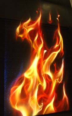 Realistic fire demo panel,