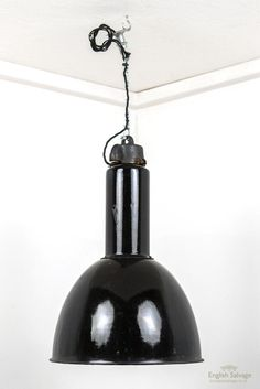 Bauhaus black enamel pendant factory lights Factory Lighting, Spot Lights, Retro Lighting, Floor Lamps, Black Enamel, Table Lamps, Bauhaus, Pendant Lighting, In The Heights