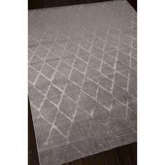 Nourison Twilight Grey  Trellis Rug (9'9 x 13'9)