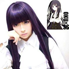 Anime Inu x Boku SS Shirakiin Ririchiyo 100cm Cosplay Costume Wig Hitagi Saeko