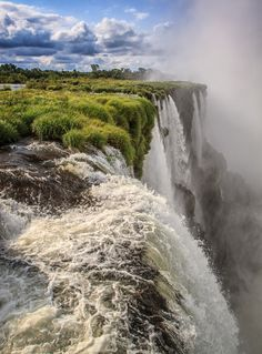 see you soon - Iguazu Falls, Argentina. Places Around The World, Oh The Places You'll Go, Places To Travel, Places To Visit, Around The Worlds, Beautiful World, Beautiful Places, Iguazu Falls, Les Cascades