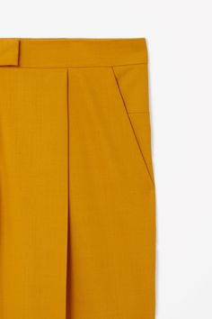 Loose-fit wool trousers