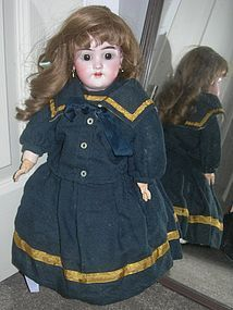 "Antique wool Navy Sailor Dress and jacket for Bisque Dolls 18-20"" #dollshopsunited"