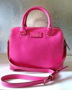 Kate Spade Wellesley Alessa Leather Handbag Purse Pink - so cute and I recently found this bag for a great price!