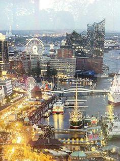 Hamburg Germany hafen harbor elbe landungsbrücken