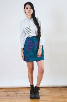 SALE Stripe Print Skirt by LoelaLoela on Etsy