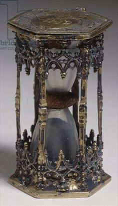 Hourglass, 1506 (gilded silver), German School, (16th century) / Germanisches Nationalmuseum, Nuremberg, Germany