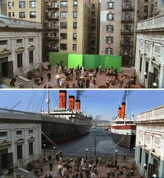 Before and after photos of visual effects in popular movies and TV shows