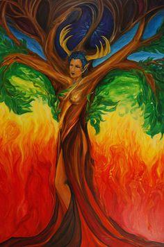 Beautiful Chakra Artwork. Chakras, Chakra Art, Goddess Art, Art For Art Sake, Fantastic Art, Art Plastique, Tree Art, Tree Of Life, Artist Art