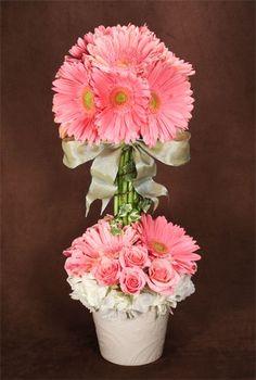 daisy topiaries   gerbera daisy topiary - Google Search