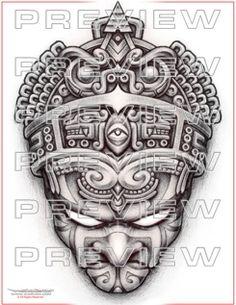 Aztec Emperor Tattoo Design: http://www.warvox.com/emperor-tattoo/
