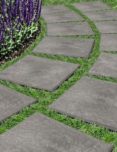 These recycled rubber pavers are a fast and easy garden pavers. You'll never want to use stone pavers again! Garden Pavers, Garden Stones, Paver Walkway, Paver Sand, Outdoor Pavers, Backyard Walkway, Flagstone Patio, Garden Path, Landscape Edging