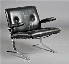 Lauritz.com - Modern furniture - tables and chairs - Olivier Mourgue født. 1939. Lænestol model 'Joker'. - DK, Herlev, Dynamovej
