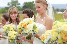 Gorgeous bouquets in creams and yellows - by 3 Leaf Floral Design