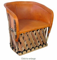 Oversized Pigskin Barrel Chair