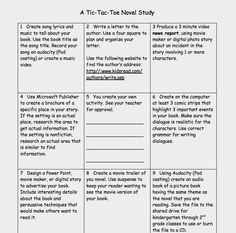 Cell choice boards easy and engaging differentiation for Tic tac toe menu template