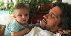 """Leo Chaves mostra foto com o caçula: """"Amor sem limite"""""""