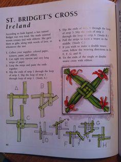 Bridget's Kreuz - St Bridget's cross St. Brigid's Cross, St Bridget, Irish Eyes, Irish Blessing, Thinking Day, Sabbats, Celtic Art, Celtic Designs, Book Of Shadows