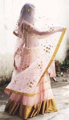 Beautiful Lehenga with Choli मिशेल India Fashion, Ethnic Fashion, Asian Fashion, Indian Look, Indian Ethnic Wear, Indian Dresses, Indian Outfits, Indian Bridal Wear, Indian Couture