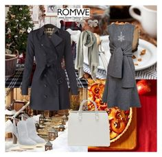 """romwe 8"" by sarahguo ❤ liked on Polyvore featuring Burberry, Donald J Pliner, CÉLINE, M&Co, women's clothing, women's fashion, women, female, woman and misses"
