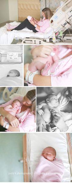 Wear a pink shirt :) Fayetteville NC Birth Photographer Birth Pictures, Hospital Pictures, Birth Photos, Newborn Pictures, Baby Photos, Newborn Pics, Foto Newborn, Newborn Session, Birth Photography