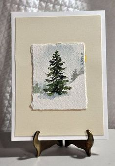 And Mesmerizing Miniature Watercolor Paintings - Bored Art Solchen Stand er etc.Magical And Mesmerizing Miniature Watercolor Paintings - Bored Art Solchen Stand er etc. Watercolor Trees, Watercolor Cards, Watercolor Landscape, Simple Watercolor Paintings, Watercolor Pictures, Watercolor Artists, Watercolor Christmas Cards, Winter Trees, Christmas Art