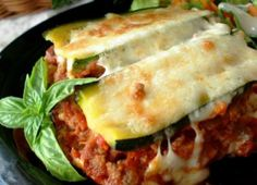 healthy zucchini lasagna... This was GREAT! My family likes it better than traditional lasagna. Didn't follow this recipe exactly, and I don't recommend boiling the zucchini before layering. Just replace the pasta with zucchini slices.