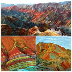 Rainbow Mountains, China. Nature's art.