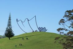 Outdoor tissue sculpture, Gibbs Farm, NZ