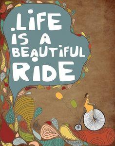 Motivational Print Illustration Wall Decor Bike door ParadaCreations, $21.00