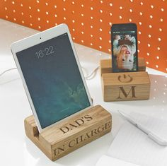 wooden stand for iphone by the oak & rope company | notonthehighstreet.com