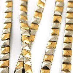 Pyramid Stud Trim. Gold & Silver. 8mm - love this!!!