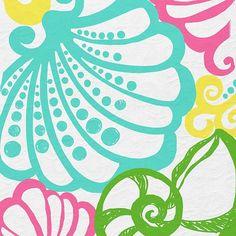 Lilly Pulitzer Pattern. Chiquita Bonita.