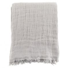Twill Linen Throw Soft Grey