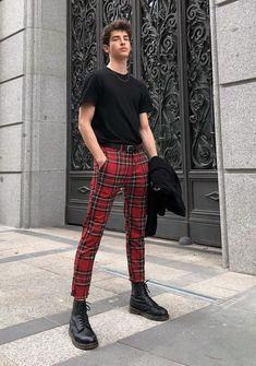 I'd like to see you in some red plaid pants plz Fashion Mode, Boy Fashion, Korean Fashion, Mens Fashion, Fashion Outfits, Fashion Trends, Fashion Shorts, Trending Fashion, Fashion Hair