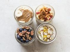 Overnight Oats for Breakfast: Food Network Creamy Oatmeal Recipe, Oatmeal Recipes, Overnight Oats, Food Network Recipes, Cooking Recipes, Cooking Network, Cooking Bacon, Smoothies, Snacks Sains