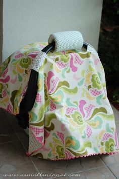 you sure know how to make a girl feel like she's not crazy! THANK YOU for your comments, emails, etc from my last post. Car Seat Canopy Pattern, Car Seat Cover Pattern, I Spy Diy, Baby Cover, Baby Sewing, Baby Bibs, Make And Sell, Baby Items, Baby Car Seats