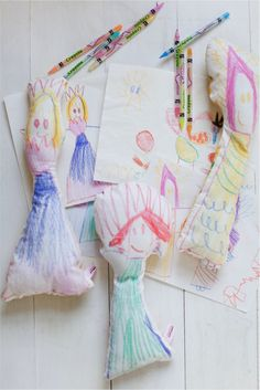 turn your child's drawings into a toy they can cuddle with using this diy.